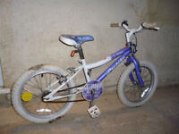 Girls bike from Ellis Briggs size 18inch wheels. Around 5-8 years.