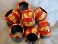 8 Napkin Rings Wooden Handmade in India