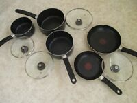 Set of Tefal pans
