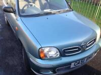 Nissan Micra 1.0 3-dr with only 79K 12 months MOT Service History £550