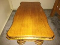 Large solid oak table / coffee table
