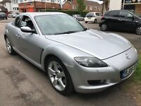 Mazda RX-8 231PS 2616cc Petrol 6 speed manual 4 door coupe 06 Plate 26/05/2006 Silver