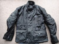 Nitro motor bike jacket size small with liner and padded excellent condition