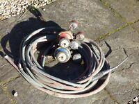 Pair BOC Gauges, Welding Lamp & Bags. Oxy Acetyline