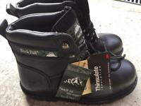 Rock Fall safety boots size 9