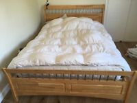 Wooden double/king size bed frame