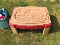 Kids sandpit and accessories