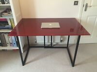 Habitat glass top desk/ table