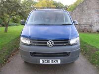 VW Transporter T32 140 BHP 2011 / 61 NO VAT ~ Lined ~ Bulkhead ~ TOWBAR ~ Roofrack ~ FULL MOT £9450