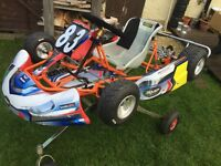Professional Bambino class Gokart go kart Karting ready for use for beginner 6-9 years old complete