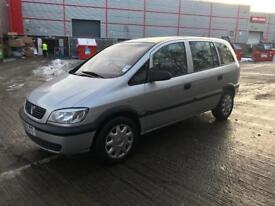 51 VAUXHALL ZAFIRA 7 SEATER LOW MILES