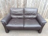 Two/three seater leather sofa