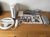 Nintendo Wii controllers and games