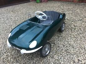TRIANG E-Type Jaguar Pedal Car Tri-ang Lines Bros Brothers Tin Plate XKE