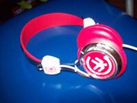 Childrens Trendy Red Head Phones