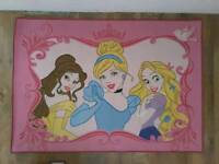 Girls Kids Princess Rug 92cm x 132cm