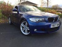 BMW 1 SERIES 118D M SPORT BLUE MANUAL HPI CLEAR HALF LEATHER SPORT DIESEL