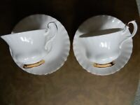2 Vintage Royal Albert Val D'or Tea Cups and Saucers