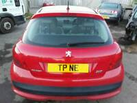 2007 PEUGEOT 207 URBAN 1.4HDI RED BOOTLID TAILGATE COMPLETE