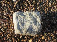 Granite stones, setts, cobbles silver grey 100 x 100mm collect Headingley