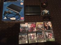 Boxed PlayStation 3 console super slim 500 GB 8 GAMES 1 PAD