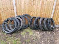 Job lot of motocross tyres front and rear