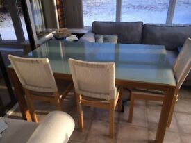 Dining table - frosted glass top