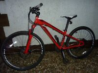 Specialized Hardrock Disc: Mountain Bike: Red and White - 13 inch frame