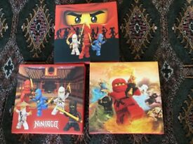 Lego ninjago canvas small pictures set