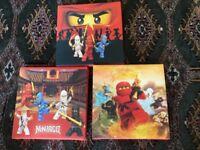 Lego ninjago canvas small pictures set