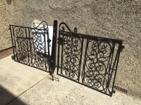 Metal gates cast iron