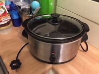 Electric Slow Cooker - Stainless Steel crock pot