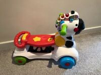 Vtec 3-in-1 learning zebra ride on toy