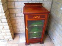 Pretty Victorian Mahogany Music Cabinet