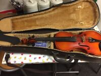 Violin for sale with case open to offers