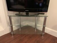Glass TV stand with shelves 80 x 40 x 50 cms