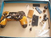 Greenzone Gold Dragon Scale PS4 Hydro Dipped Controller Shell & Matching Buttons