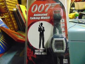 james bond watch very rare sealed on packet year 2000 talking collect aberbagoed
