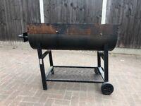 BBQ half barrel grill (branded)