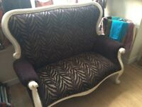 Beautiful reupholstered antique 2 seat sofa