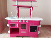Early Learning Centre Wooden Retro Play Kitchen, with lots of accessories- excellent condition!
