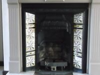 Cast Iron fire insert with tiles