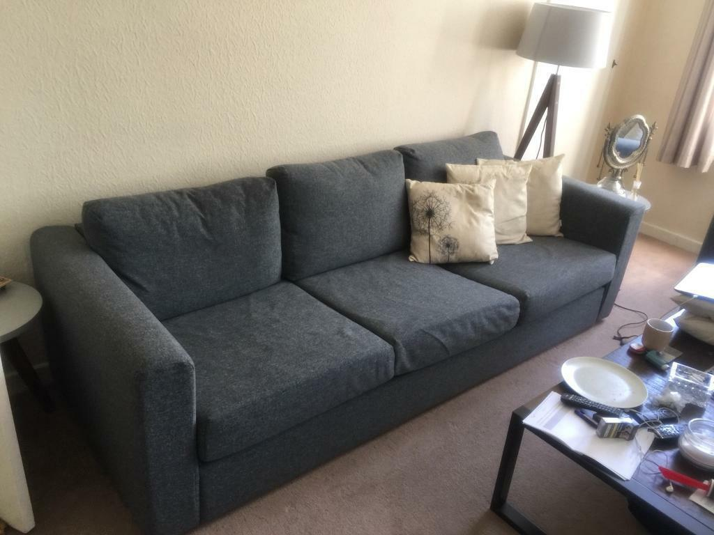 ikea vimle 3 seater grey sofa in pinner london gumtree. Black Bedroom Furniture Sets. Home Design Ideas