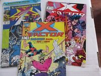 3 X-Factor comics. Issues 12,80 & 86 (Still sealed with Official Trading Card)
