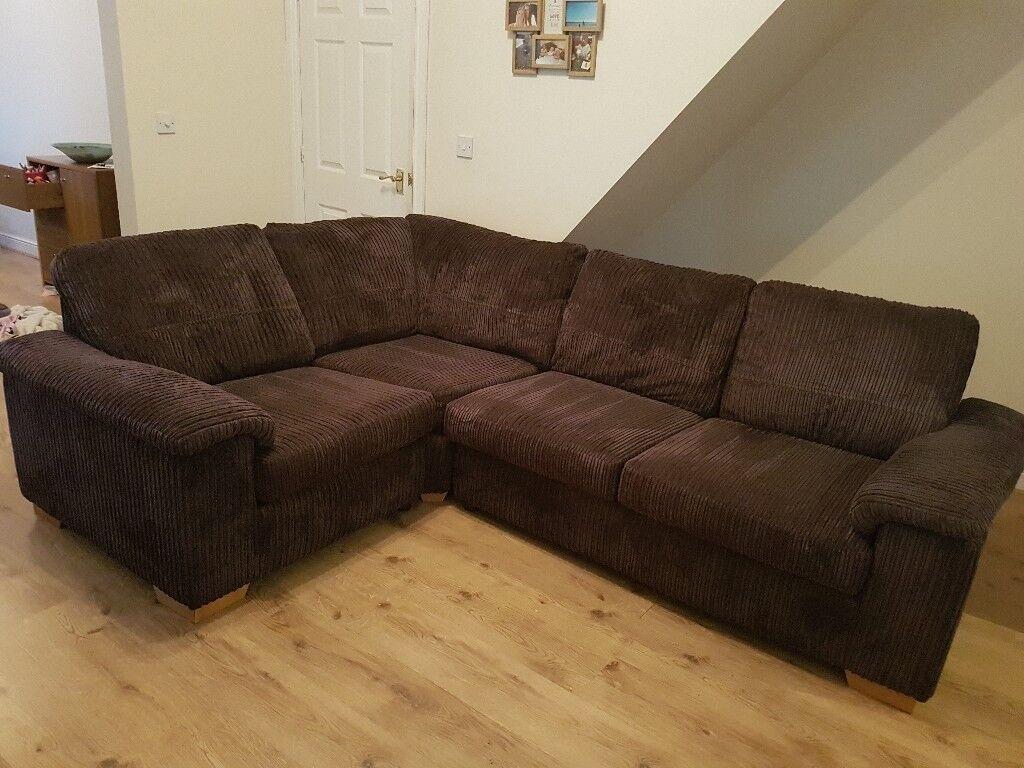 DFS L/H brown corner sofa