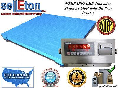New Ntep Legal Industrial 48 X 72 4 X 6 Floor Scale 5000 Lbs X 1 W. Printer