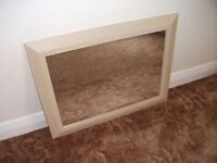 "Large Framed Mirror. Approx. 33.5"" x 25.5"". Very Good Condition."