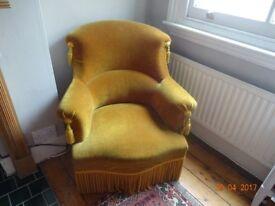 French original 'crapaud' chair