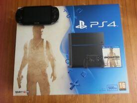PlayStation 4 500gb & PS Vita WiFi Handheld