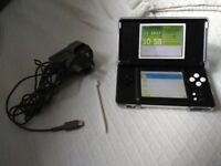 nintendo ds lite blue with 42 games on game card